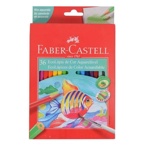 Lápis de Cor Faber Castell Ecolápis Aquarelável C/36 Unidade