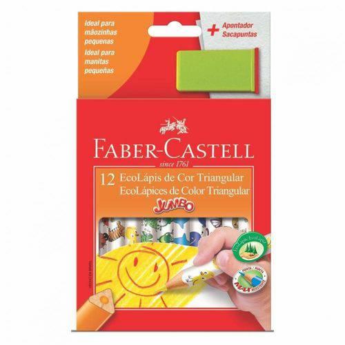 Lápis de Cor Faber Castell Jumbo 12 Cores Triangular