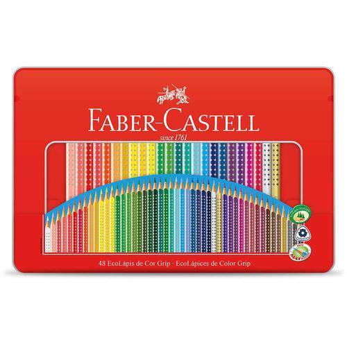 Lápis de Cor Grip 48 Cores Faber-castell Estojo de Lata