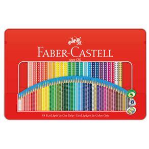 Lápis de Cor Grip Estojo Lata com 48 Cores Ref.121048LTN Faber-Castell