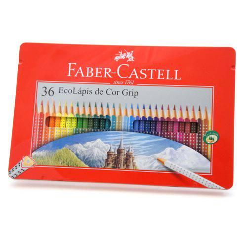 Lápis de Cor Grip Estojo Lata com 36 Cores Ref.121036lt Faber-castell