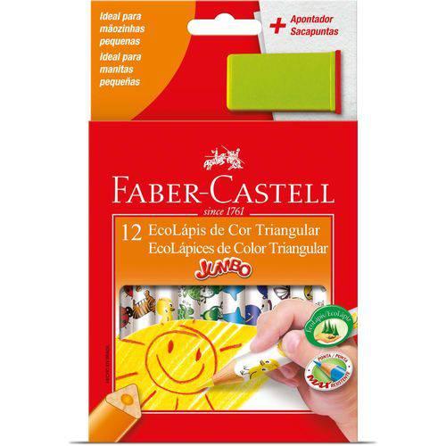 Lapis de Cor Jumbao Ecolapis 12 Cores Decorado Faber-castell Pct.c/06