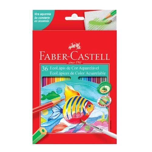 Lápis de Cor Sextavado Aquarelável 36 Cores Faber Castell