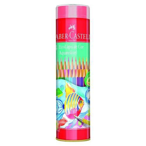 Lápis de Cor Tubo Ecolápis 24 Cores Aquarelavel Faber Castell - 120224gt