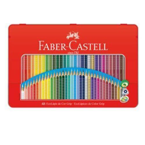 Lápis Faber-Castell Ecolápis Grip - Estojo de Metal - 48 Cores