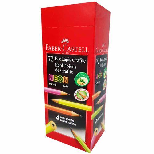 Lápis Preto Faber Castell MAX Neon N°2 72 Unidades 1022604