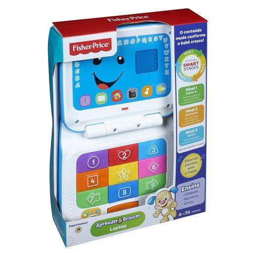 Laptop Cinza Fisher Price Aprender e Brincar - Mattel