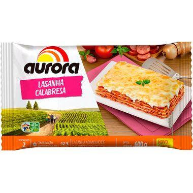 Lasanha Calabresa Aurora 600g