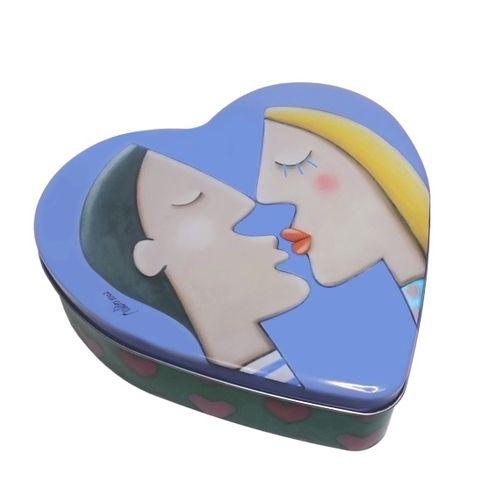 Lata Coração Beijo Grande 23,5x22cm