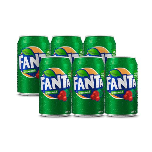 Lata Fanta Guaraná 350 Ml (pack 6 Unidades)