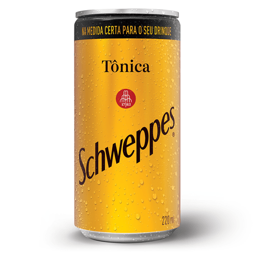Lata Schweppes Tônica 220ml