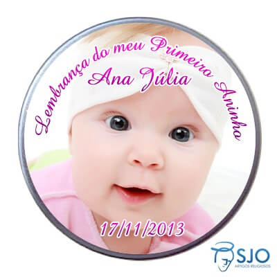 Latinha de Aniversário do Meu Primeiro Aninho - Menina | SJO Artigos Religiosos