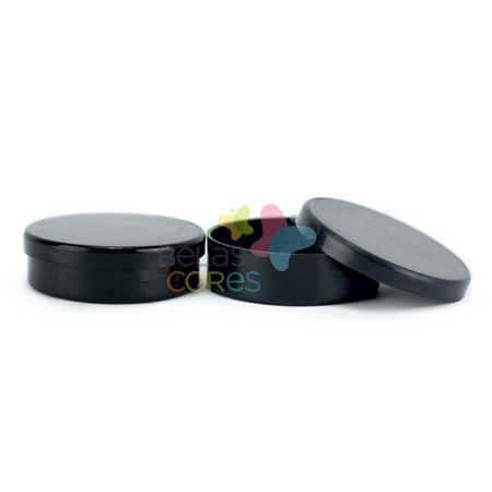 Latinhas de Plástico Mint To Be 5,5x1,5 Cm Preta - Kit com 50 Unids