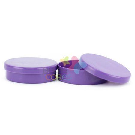 Latinhas de Plástico Mint To Be 5,5x1,5 Cm Roxa - Kit com 50 Unidades