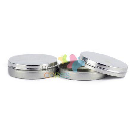 Latinhas em Metal Mint To Be 5,5x1,5 Cm Prata - Kit com 50 Unids