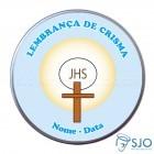 Latinhas Personalizadas - Crisma - Mod. 01   SJO Artigos Religiosos