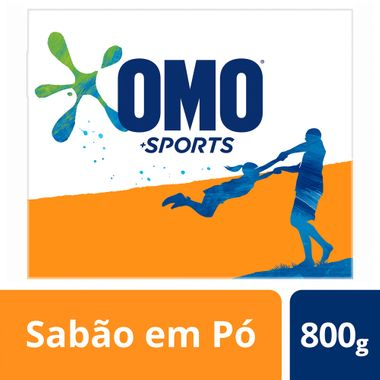 Lava Roupas em Pó Sports Omo 800g