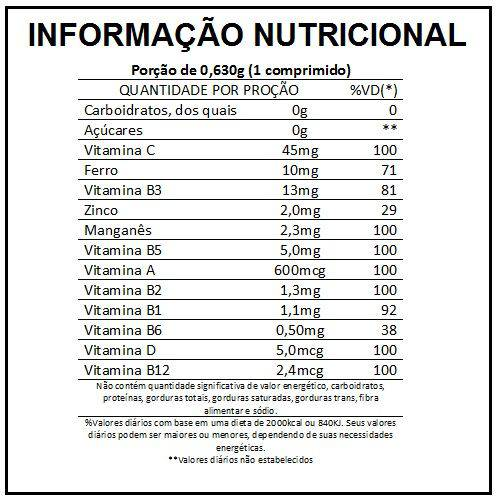 Lavitan A-Z Polivitamínico-mineral C/ 60 Comprimidos