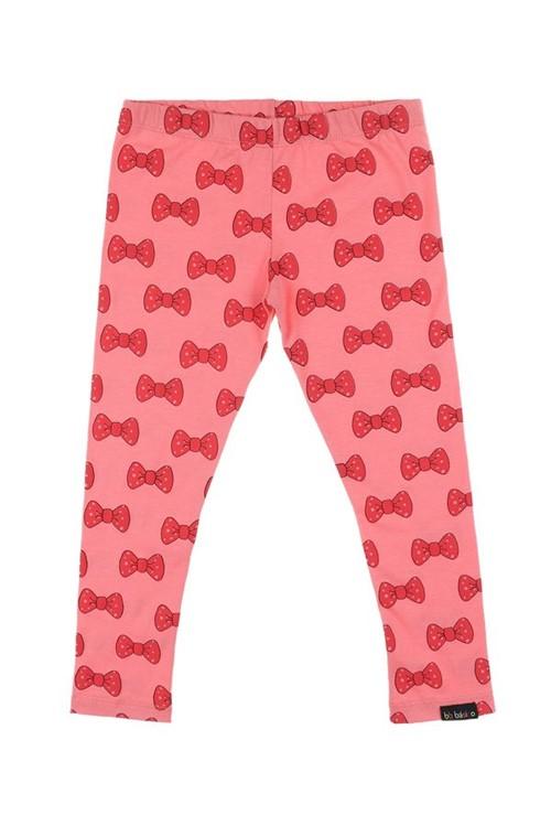 Legging Infantil Laço 02 - Rosa Flamingo