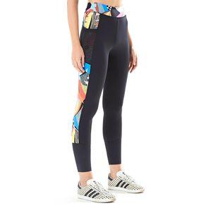 Legging Tela com Zíper Est Sonho Solar_Fitness_Multicolorido @ - P