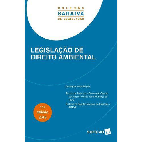 Legislação de Direito Ambiental - 11ª Edição (2018)