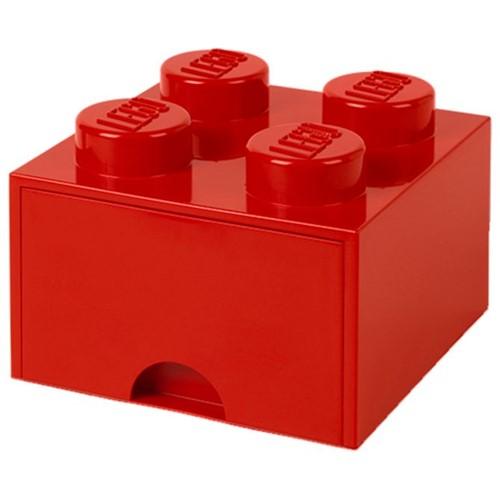 Lego Bloco Organizador 25 Cm C/1 Gaveta Vermelho