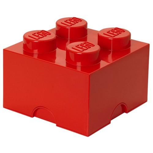 Lego Bloco Organizador 25 Cm Vermelho