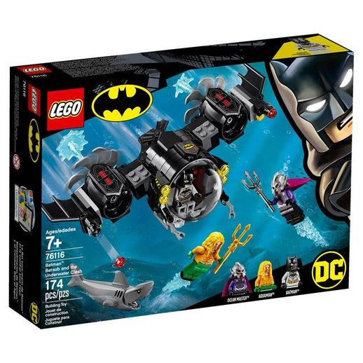 Lego DC Comics Super Heroes 76116 o Batsubmarino de Batman e o Confronto Subaquático - Lego