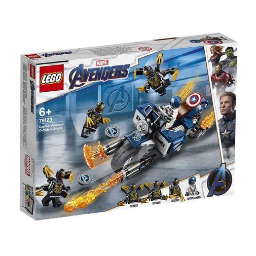 Lego Marvel - Capitão América: Ataque Outriders - 76123