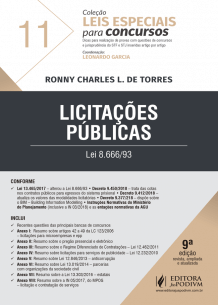 Leis Especiais para Concursos - V.11 - Licitações Públicas (2018)
