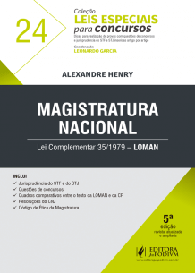 Leis Especiais para Concursos - V.24 - LOMAN - Magistratura Nacional (2019)