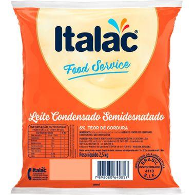 Leite Condensado Semidesnatado Italac 2,5kg