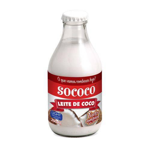 Leite de Coco Light 200ml - Sococo