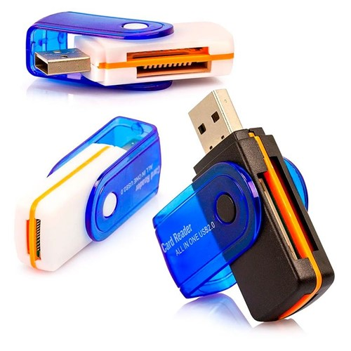 Leitor de Cartão Memória Universal USB Unica