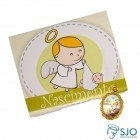 Lembrancinhas de Nascimento - Cartão com Medalha | SJO Artigos Religiosos