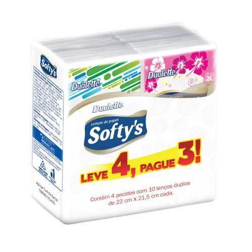 Lenço de Papel Softys 10 Unidades 4 Pacotes