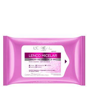 Lenço Demaquilante L'Oréal Paris Micelar de Limpeza 5 em 1 25un