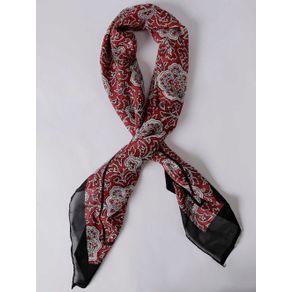 Lenço Feminino Vermelho/preto