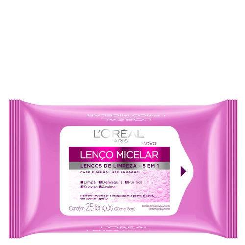 Lenço Micelar de Limpeza 5 em 1 L'Oréal Paris - Lenços Demaquilantes