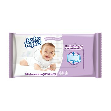 Lenço Umedecido Baby Wipes Lavanda 48 Unidades
