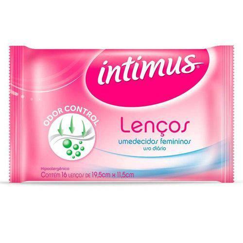 Lenço Umedecido Feminino Intimus com 16