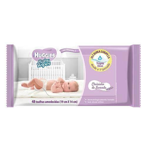 Lenço Umedecido Huggies Baby Wipes Lavanda - 48 Unidades