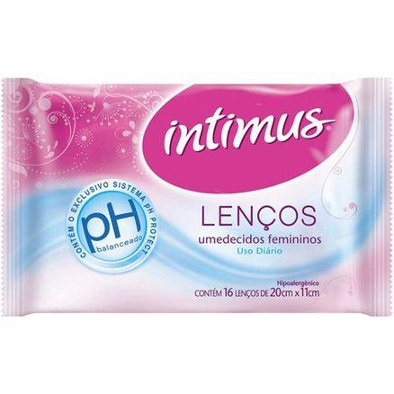 Lenço Umedecido Intimus Sem Perfume 16 Unidades