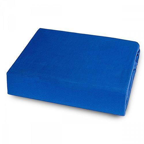 Lençol Casal Padrão Sem Elástico Microfibra - Azul LE
