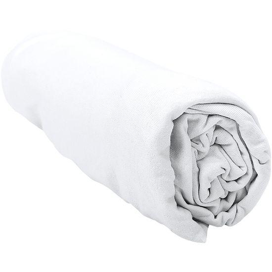 Lençol de Malha para Berço Americano - Branco