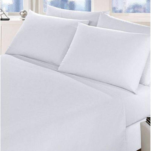 Lençol Queen Size S/ Elástico Branco 150 Fios Fassini Têxtil