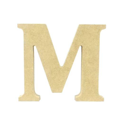 Letra de Mesa Média M MDF 12CM
