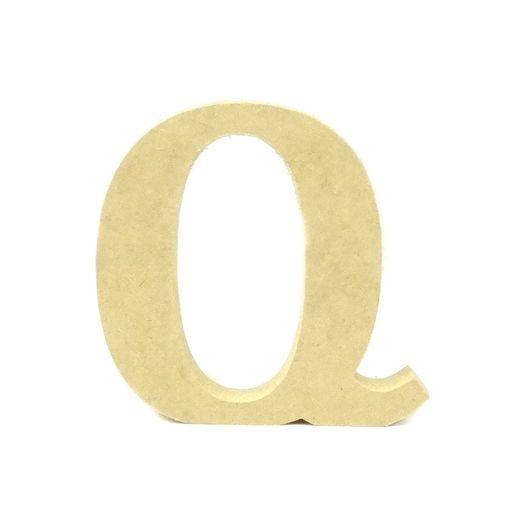 Letra de Mesa Média Q MDF 12CM