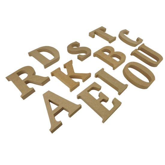Letras em MDF para Decoração 24cm de Altura e 1,8cm de Espessura em Madeira MDF Letra a