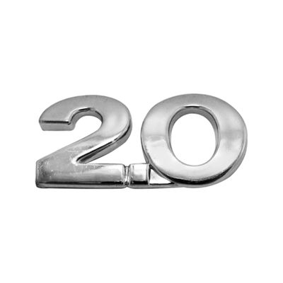 Letreiro 2.0 da Tampa Traseira Gol Parati Saveiro G3 2000 a 2005 Santana Quantum 1998 a 2006